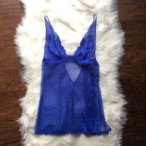 {Victoria's Secret} XS Blue Lace Slip